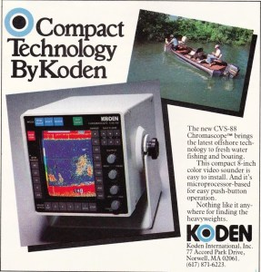 This Koden CVS-88 ad from 1986 gives better perspective on how big this CRT unit was.