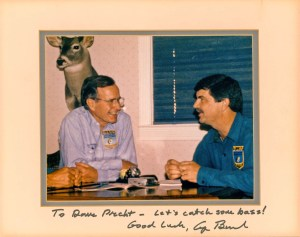 When George H. W. Bush was running for president in 1980, Precht was able to interview the candidate during a meeting in Georgia. Photo courtesy of Dave Precht.