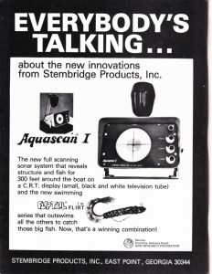 1976 Aquascan ad from Stembridge Products, makers of the Flip Tail worm.