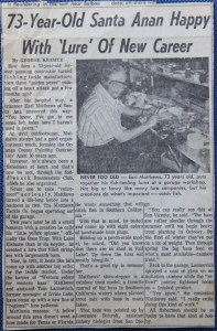 Kramer's first publication from 1975 in the Santa Ana Register (now the Orange County Register). Photo courtesy of George Kramer.
