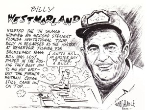 Billy Westmorland makes it two in a row at the St. Johns River. Mar/Apr 1975 issue of Bass Master magazine.
