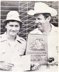 John Hall wins the second fly-rod only event at Kerr. Photo July/August 1975 Issue of Bassmaster Magazine