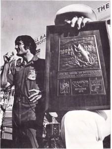 John Pryor wins the 1975 All-American on Texoma. Photo February 1976 Issue of Bassmaster Magazine.