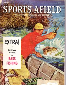 The cover of Sports Afield magazine from May 1956 featuring their annual Bass Issue.