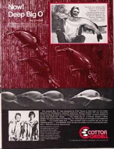 Cotton Cordell Big-O ad In' Fisherman Segment 1 Study Report 7, May 1976.