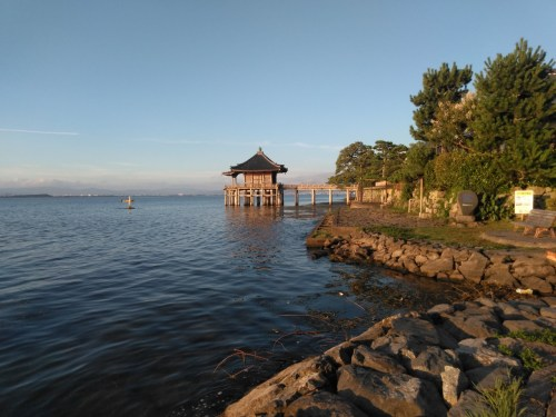 琵琶湖浮御堂(近江八景)