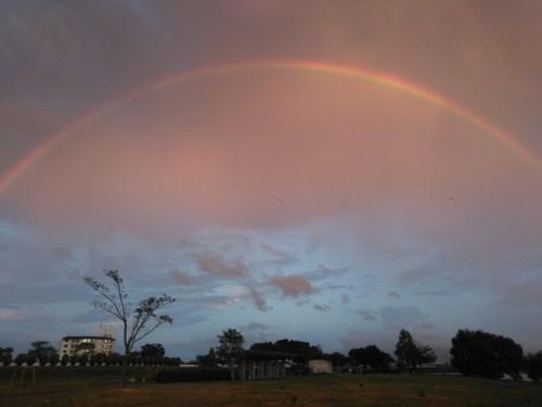 琵琶湖北山田エリアから見た虹