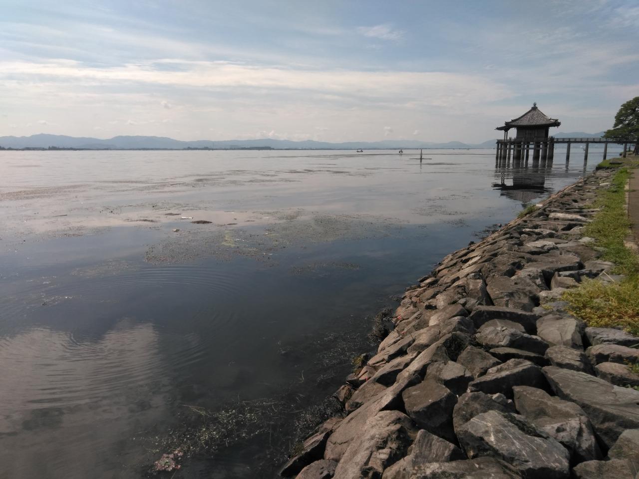 琵琶湖の堅田エリア、浮御堂