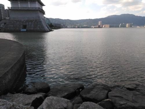 琵琶湖のにおの浜エリア(琵琶湖文化館横)
