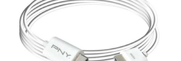 PNY lancia una serie di cavi, adattatori e caricabatterie per la gamma Apple