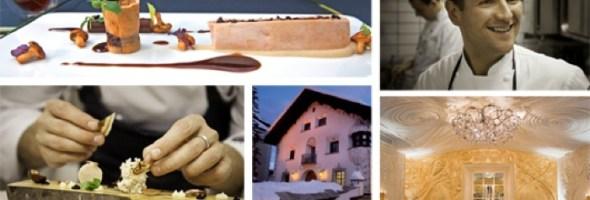 """Lo chef Rolf Fliegauf ha ottenuto le due Stelle Michelin anche per """"Ecco on Snow"""", ristorante aperto da appena un anno a Champfèr-St. Moritz"""