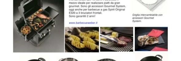 Ricette gourmet su barbecue a gas Spirit Original E320. E' un'invenzione Weber-Stephen!