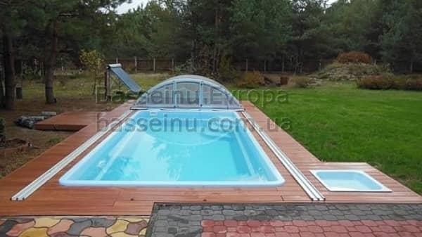 Купить бассейн композитный с павильоном Винница.