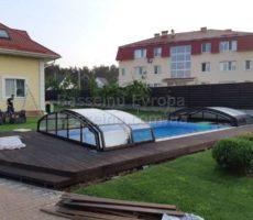 Строительство крытого бассейна из композита на загородном участке в Киеве фотография 20.