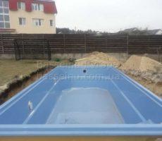 Монтаж бассейна из композита для дачи фотография 3.