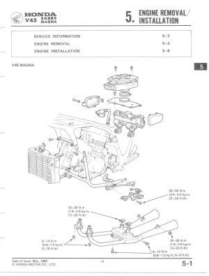 bassendackwards  Honda v45 ENGINE REMOVALINSTALLATION