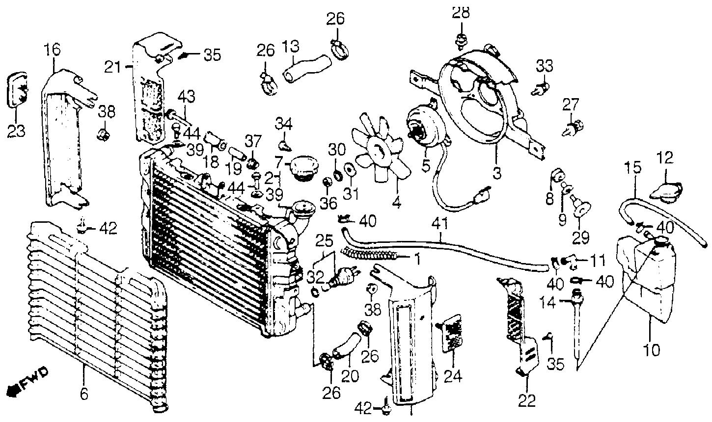 Ford Focus Radiator Hose Diagram