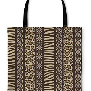 Gear New Tote Bag, Shoulder Tote, Hand Bag, African Style With Wild Animal Skin Patterns