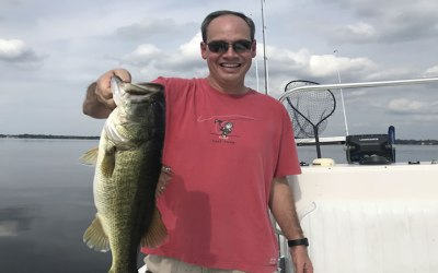 Quality Bass on the Butler Chain while Florida Fishing Pepper Grass