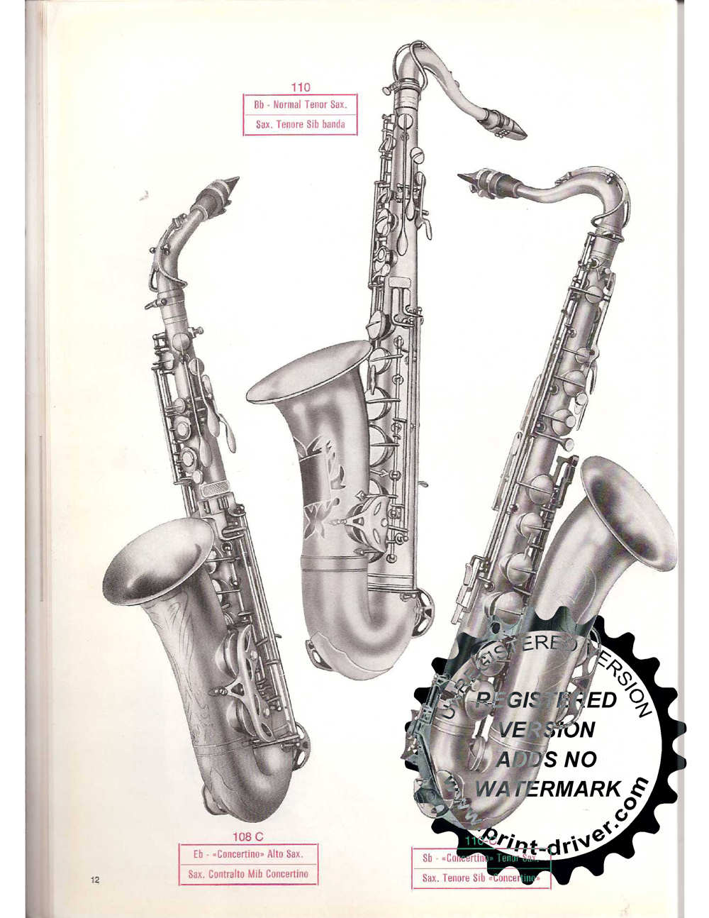 Vintage Orsi Catalogue The Bassic Sax Blog
