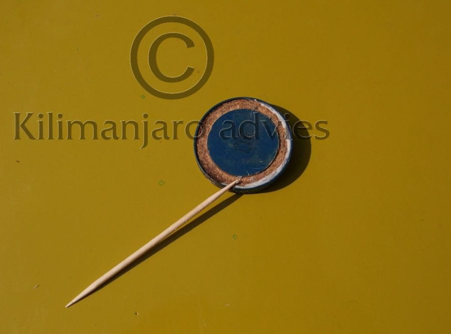 saxophone pads, wooden disk, MDF, silicon seal, applied with toothpick, new invention