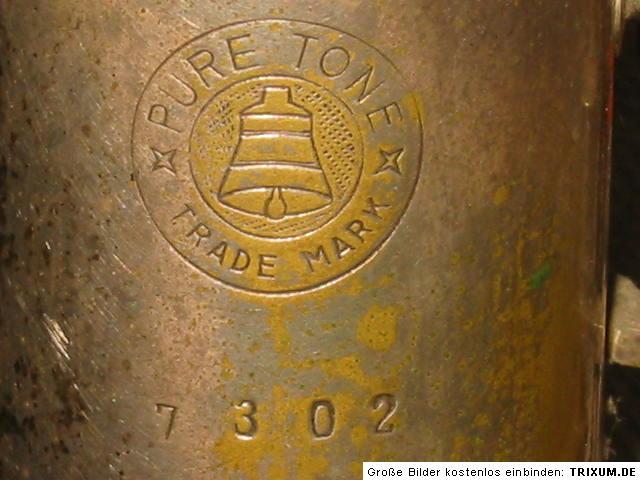 saxophone, Max Keilwerth, President tenor saxophone, vintage, German, Pure Tone Trade Mark, bell logo, serial number