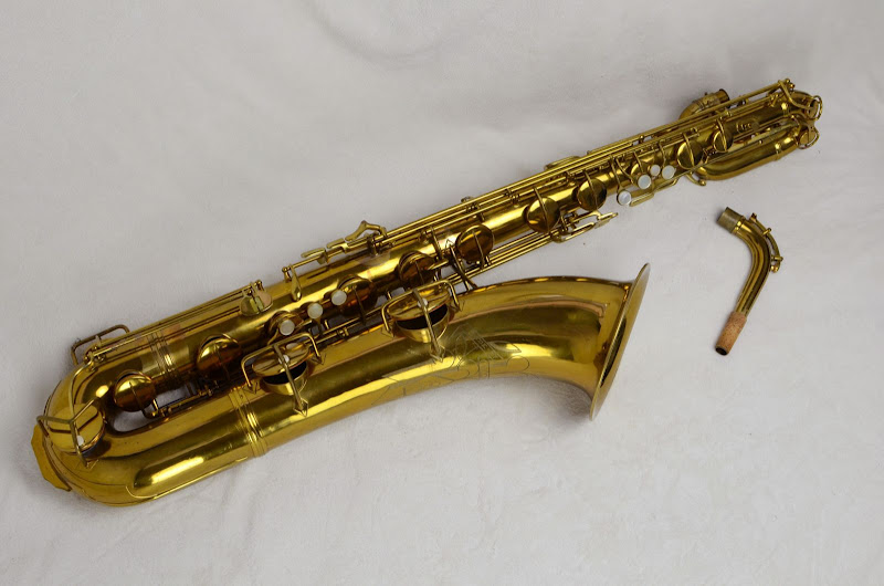 baritone sax, low Bb bari saxophone, Conn 12M, vintage sax, Bassic Sax Pix