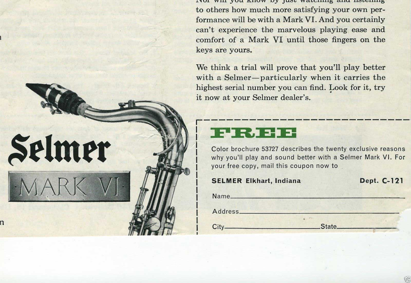 Close up of Mail In Box selmer mark vis began at 53727 the bassic sax blog