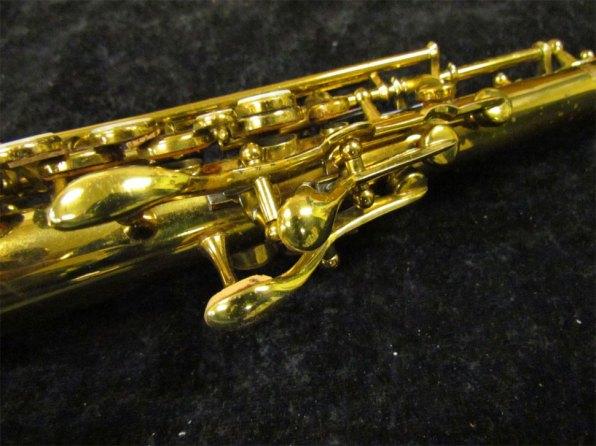 soprano sax, Tipped Bell Buescher True Tone soprano, vintage saxophone, rare sax, saxophone keys