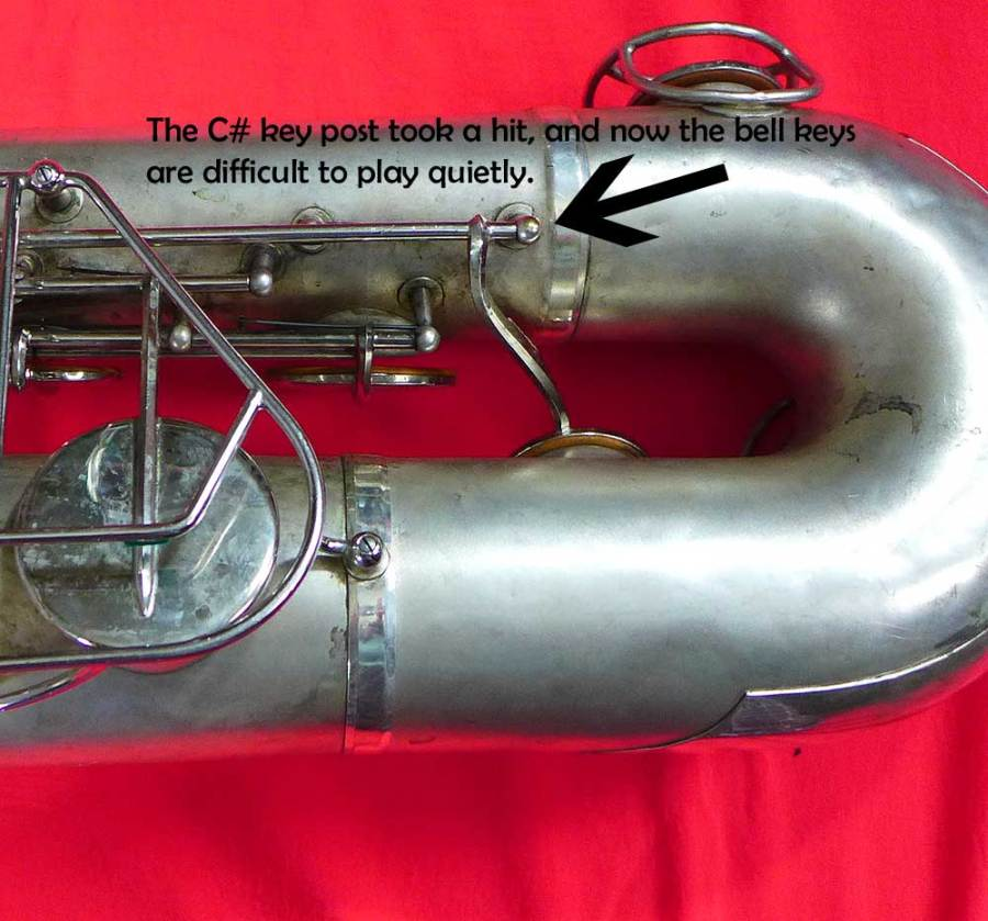 baritone sax, silver sax, Martin bari, how to buy a used saxophone