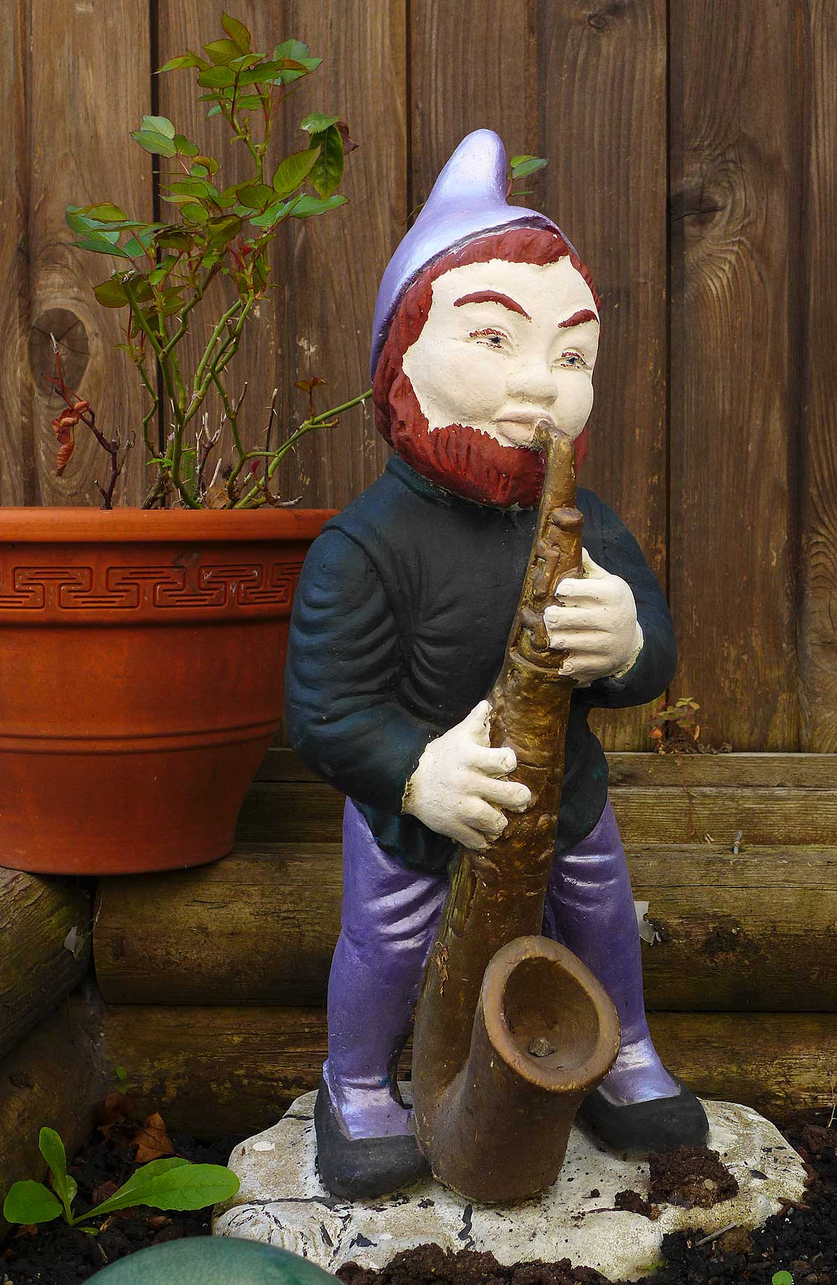Vintage Sax-Playing Garden Gnome | The Bassic Sax Blog
