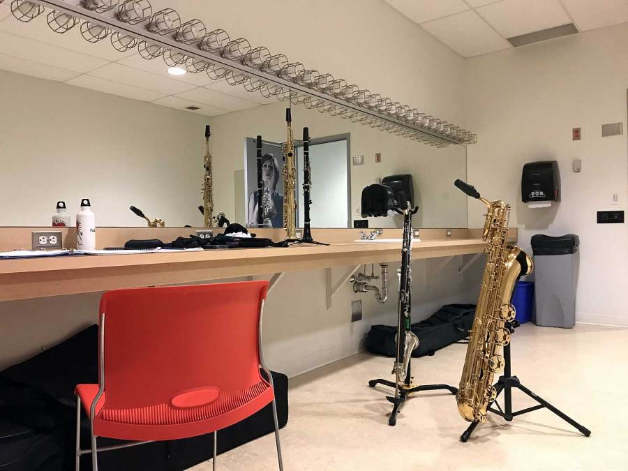 The Hunchback of Notre Dame, dressing room, Secondary Characters, Chilliwack Cultural Centre, bari sax, bass clarinet, clarinet, soprano sax