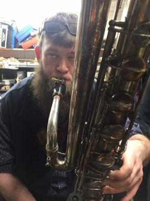Bellingham Wind Works, contrabass saxophone player