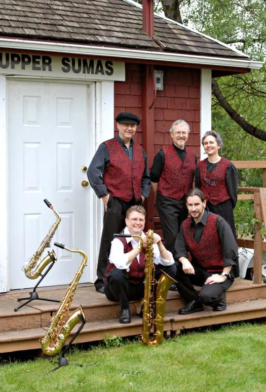 Bassic Sax Sax Ensemble, jazz group, small combo, Abbotsford, BC, band for hire, special events