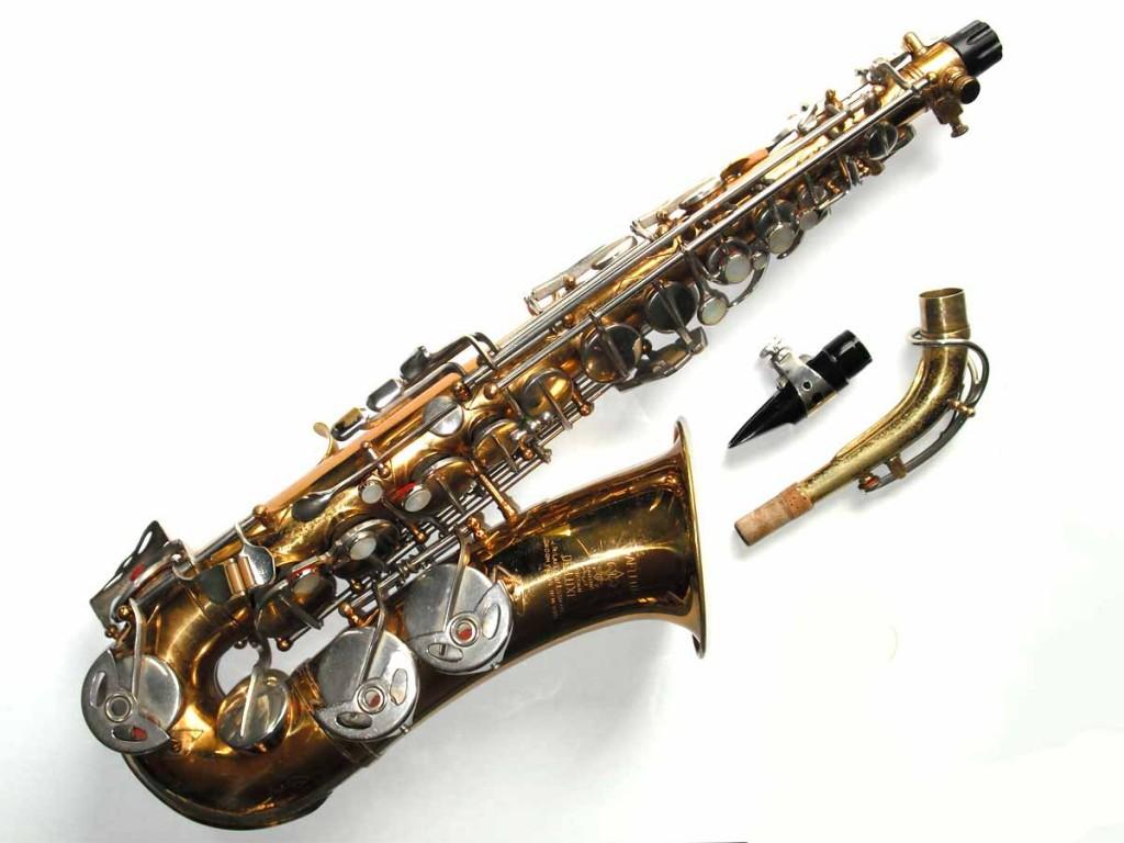 alto saxophone, sax neck, mouthpiece, Lafleur, Hammerschmidt, stencil sax