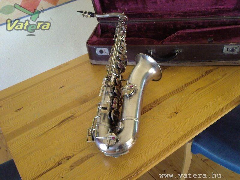 tenor saxophone, silver plated, Karl Hammerschmidt, German, vintage