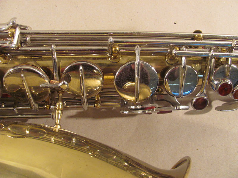 Weltklang tenor saxophone, sax keys, post to body construction, vintage East German tenor Sax, DDR