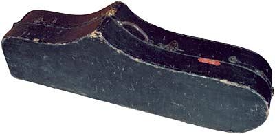 bass sax case, vintage, Buescher, 1922, contoured,