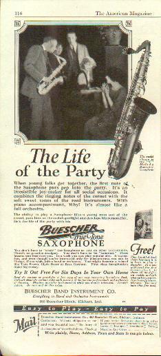 1925 Buescher True Tone Ad