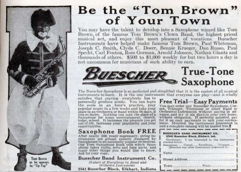 Oct. 1923 Buescher Ad Smaller