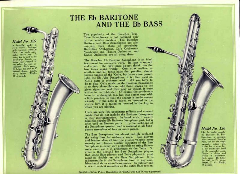 bass saxophone ad buescher