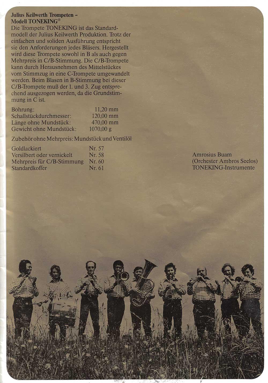 Julius Keilwerth, vintage catalogue, 1979, page 18, black, gold