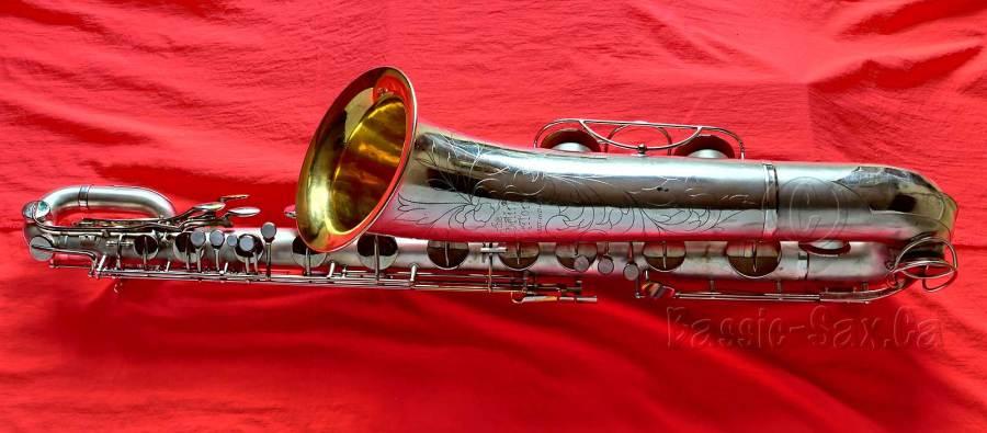 Martin Committee III Baritone, baritone saxophone, bari sax, silver sax, gold plated bell, vintage sax