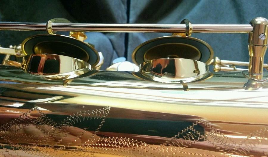 B&S Codera saxophone, resoblades, sax tone holes, sax keys, German saxophone