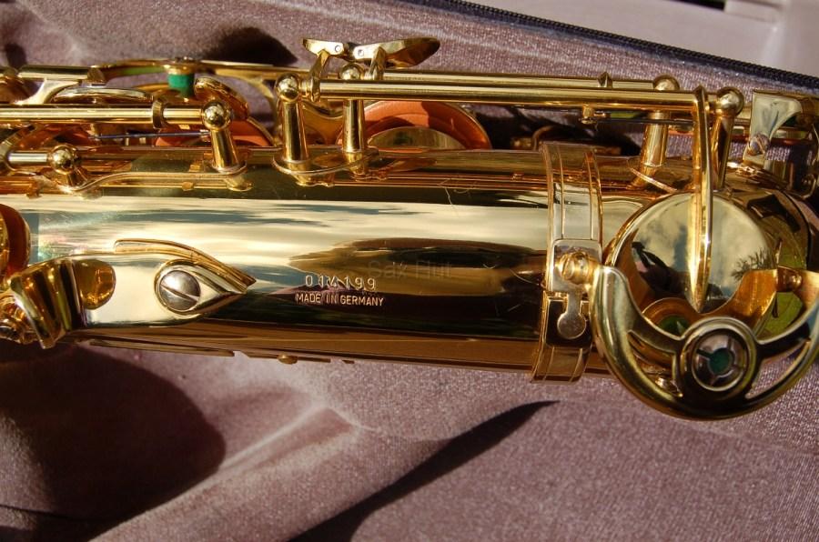 Allora tenor sax, saxophone serial number, B&S saxophone, stencil saxophone