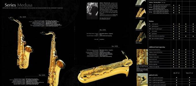 B&S Medusa Saxophone Dealer Prospectus