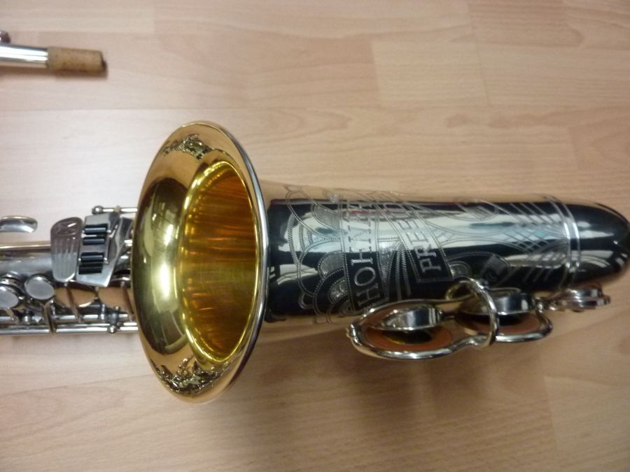 Hohner President,alto sax, vintage sax, German sax, Max Keilwerth, saxophone, silver-plated horn with gold plated inner bell