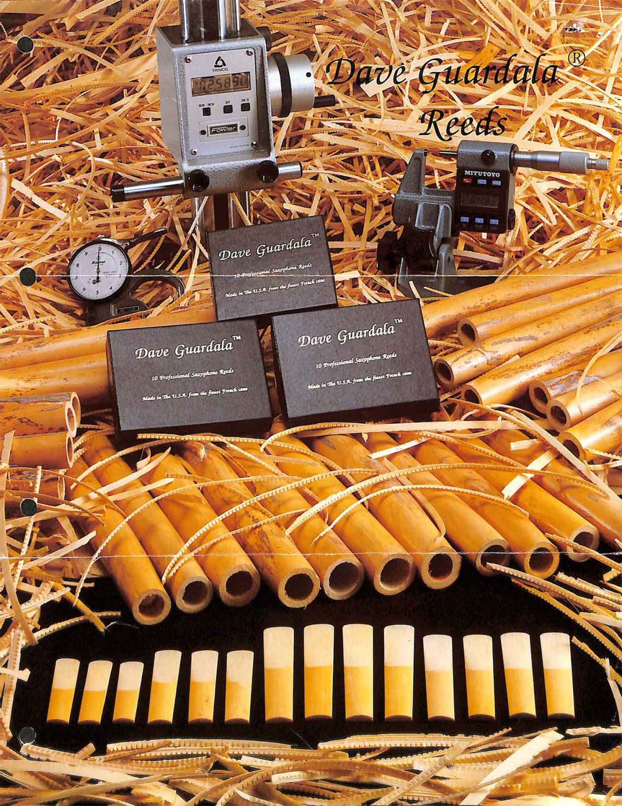 Dave Guardala, reeds, color brochure, saxophone reeds