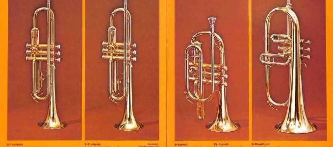 Bb Trumpet 134, 135 & Bb Coronet 141, Bb Flugelhorn 144
