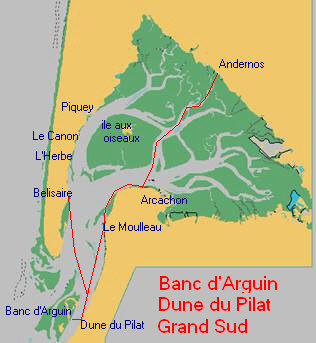Bassin D Arcachon Bateau Dune Pilat Banc Darguin